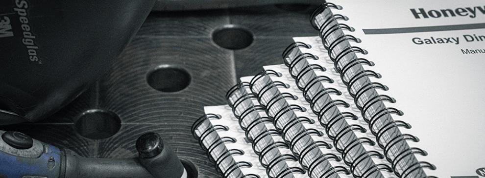 oprawy spiralne - przykład realizacji